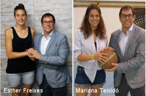 Mariona Teixidó i Esther Freixes, reforços pel Copa Catalunya Femení del CB Igualada