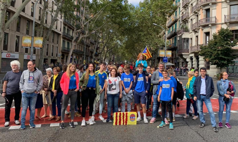 El Club Bàsquet Igualada, per primera vegada present a l'ofrena floral a Rafael Casanova a Barcelona.El CBI celebra l'11 de setembre