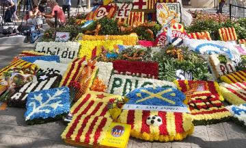 El Club Bàsquet Igualada, present a l'ofrena floral a Rafael Casanova a Barcelona en motiu de la Diada Nacional de Catalunya<br> El CBI celebra l'11 de setembre