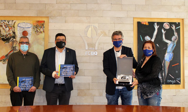 L'FCBQ rep la visita del CB Igualada amb motiu del seu 40è aniversari