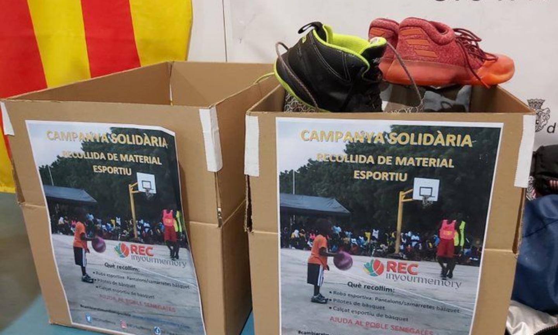 Recollida de material esportiu per a enviar al Senegal